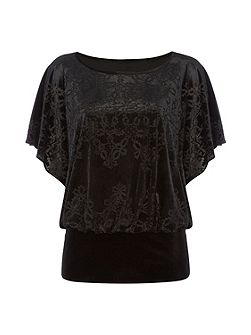 Velvet Burnout Jersey Top