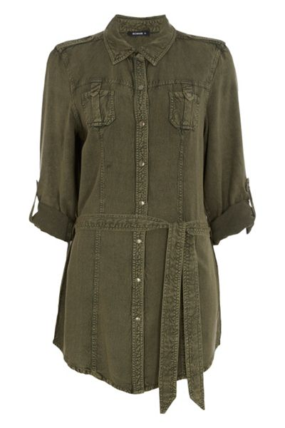 Roman Originals Longline Blouse with Poppers