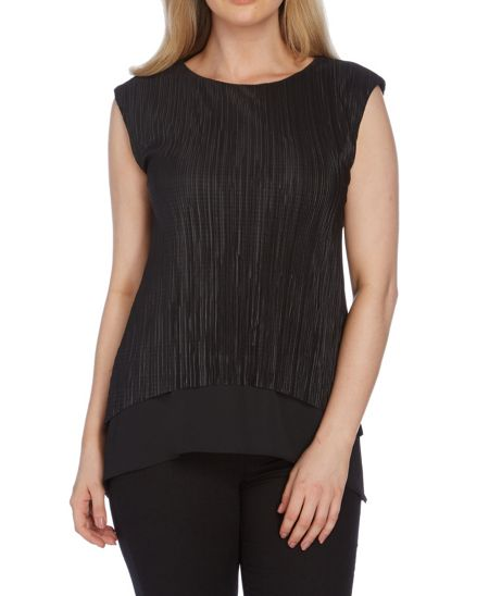 Roman Originals Pleated Double Layer Top