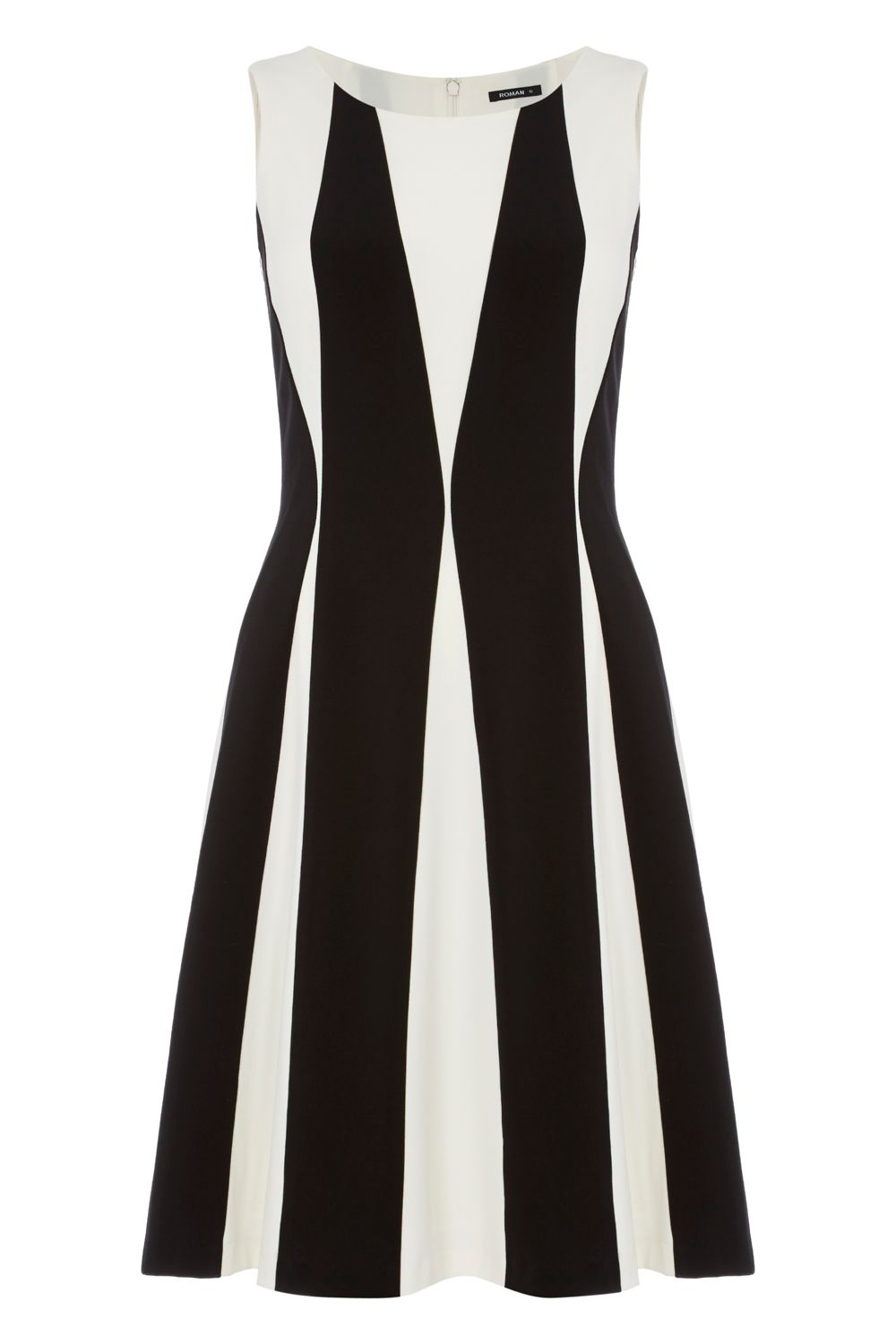 Roman Originals Contrast Panel Detail Dress, Black