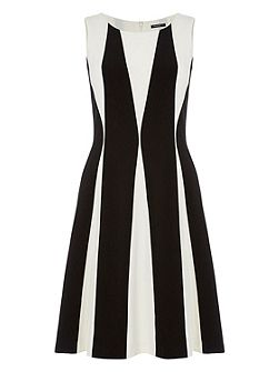 Contrast Panel Detail Dress