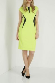 Roman Originals Contrast Rib Texture Dress