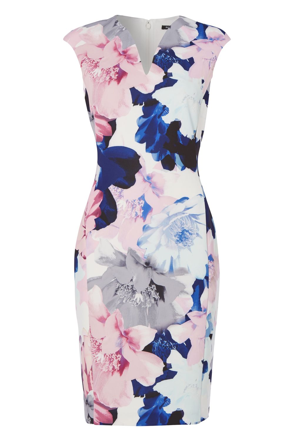 Roman Originals Floral Scuba Dress, Multi-Coloured