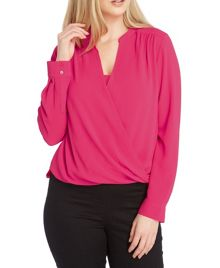 Roman Originals Textured Wrap Front Top