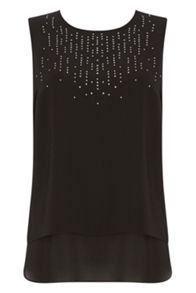 Roman Originals Sleeveless Embellished Top