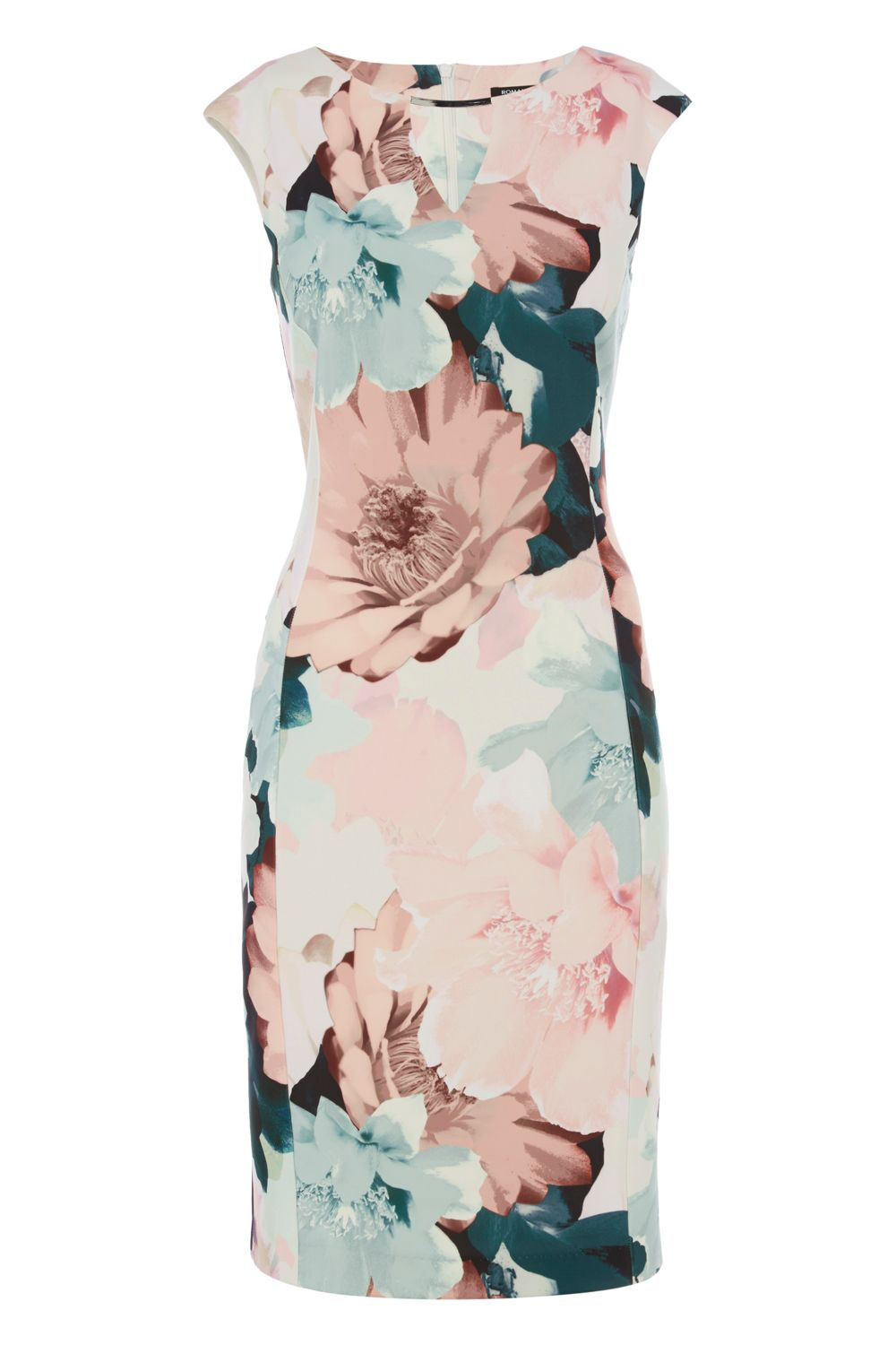 Roman Originals Pastel Floral Print Dress, Multi-Coloured