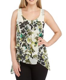 Roman Originals Garden Floral Print Top