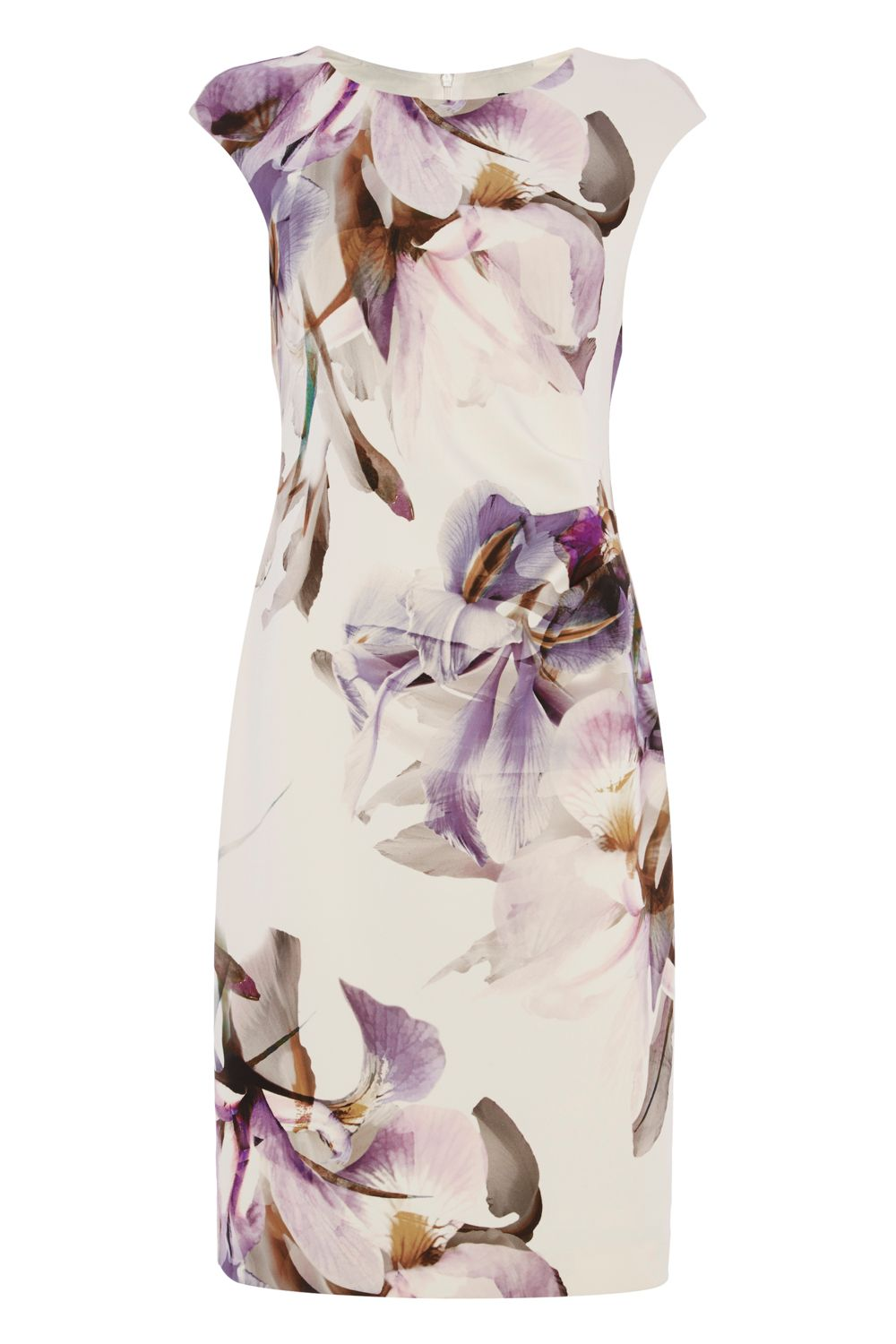 Roman Originals Scuba Print Dress, White