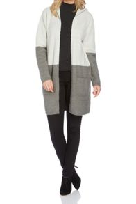 Roman Originals Colour Block Cardi with Hood