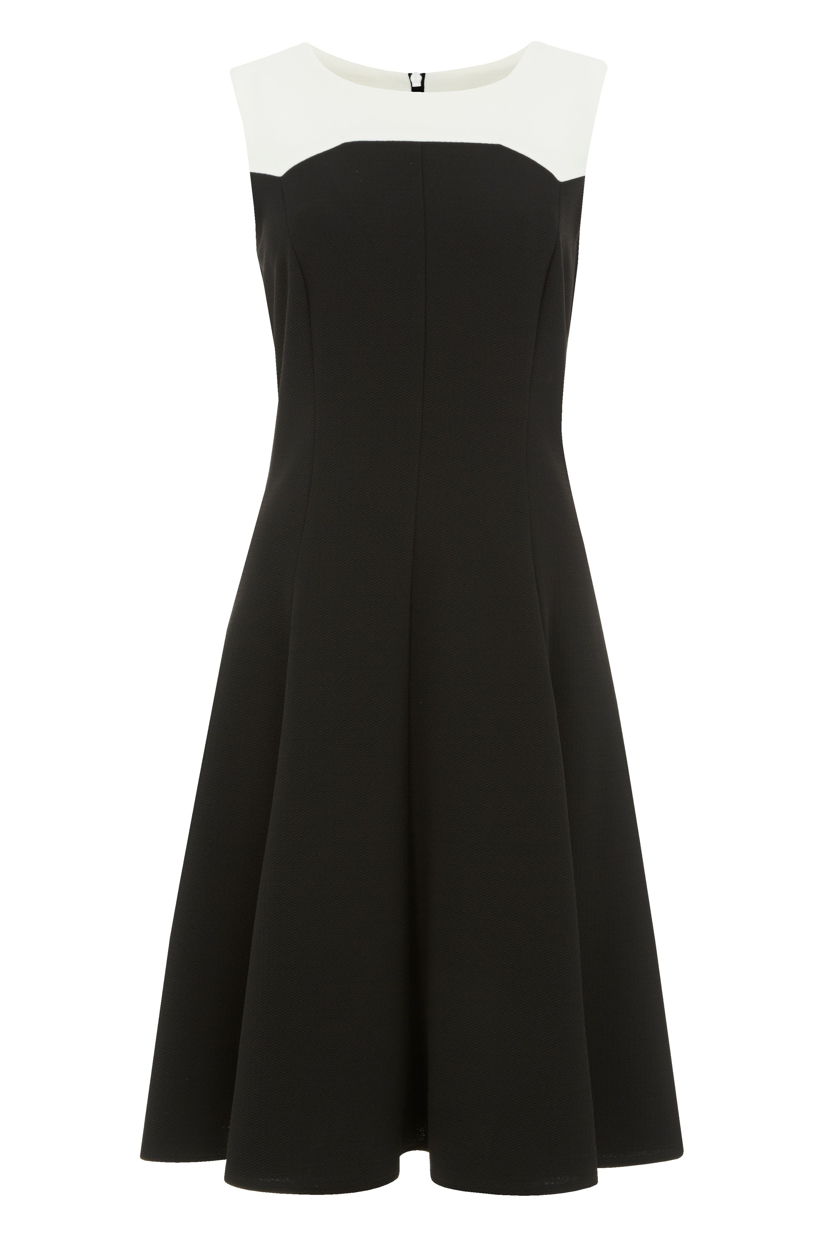 Roman Originals Contrast Monochrome Dress, Black