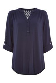 Roman Originals Lace Soft Jersey Shirt