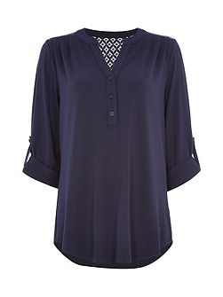 Lace Soft Jersey Shirt