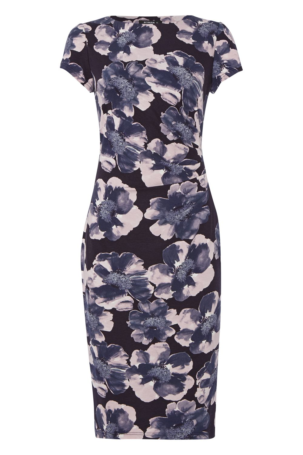 Roman Originals Floral Print Shift Dress, Blue
