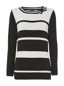 Stripe Jumper with Bow Detail