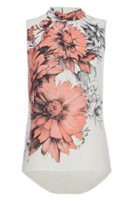 Roman Originals Daisy Floral Roll Neck Top