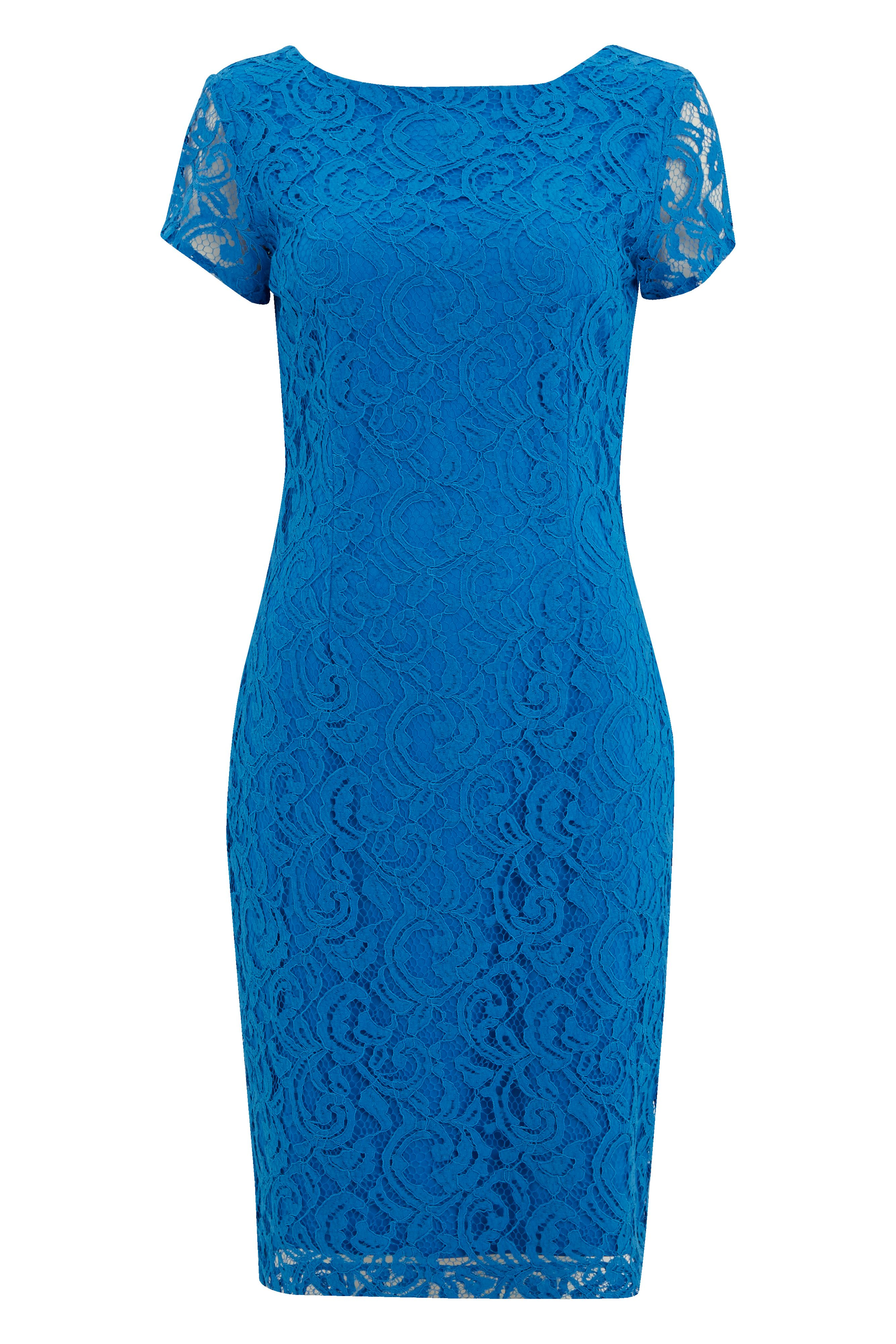Roman Originals Lace V Back Dress, Blue