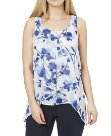 Roman Originals Floral Print Asymmetric Top