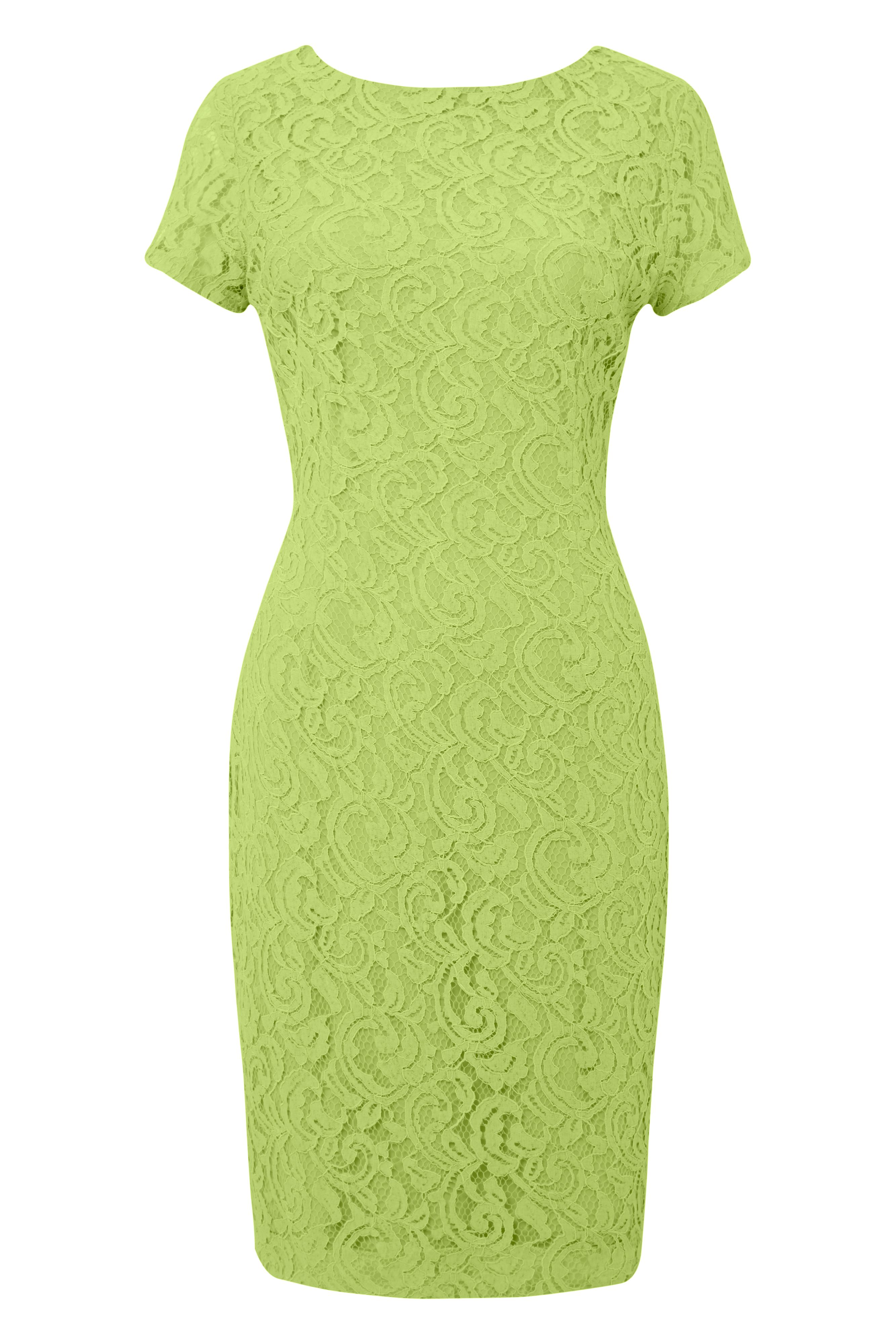 Roman Originals Lace V Back Dress, Green