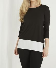 Roman Originals Contrast Hem Top