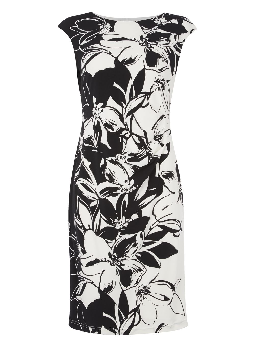 Roman Originals Floral Print Dress, Black