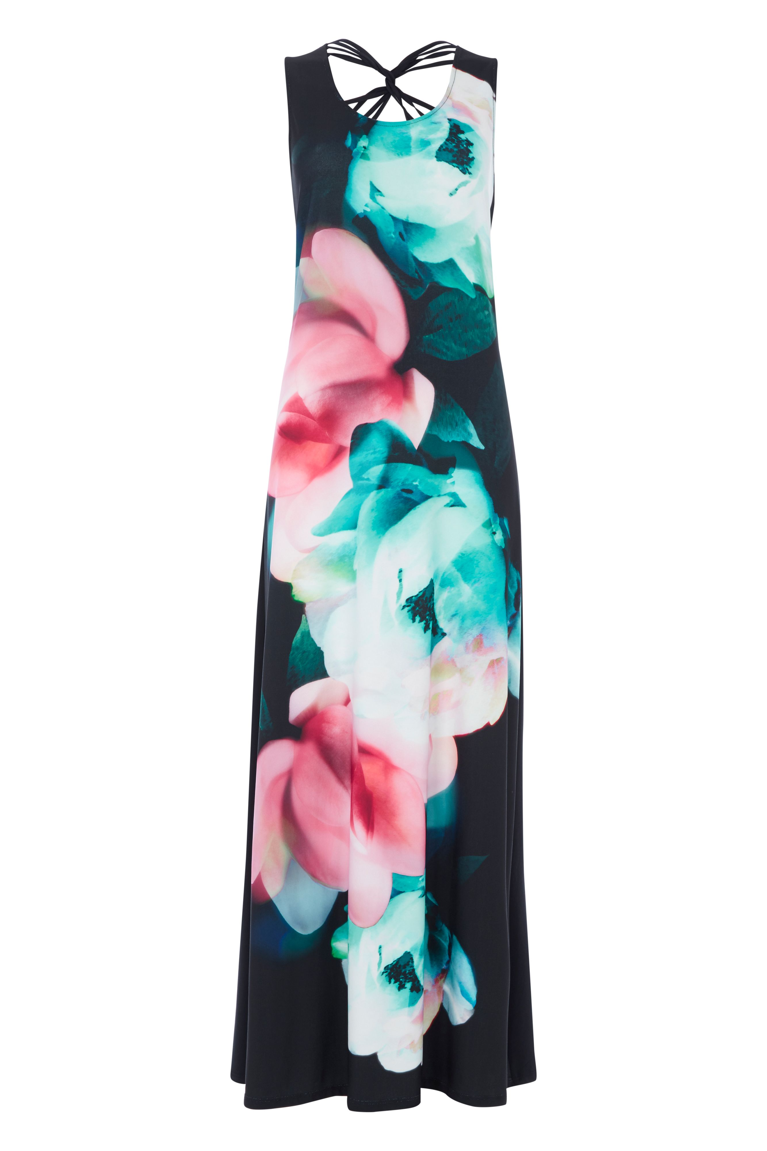 Roman Originals Floral Cross Back Maxi Dress, Multi-Coloured