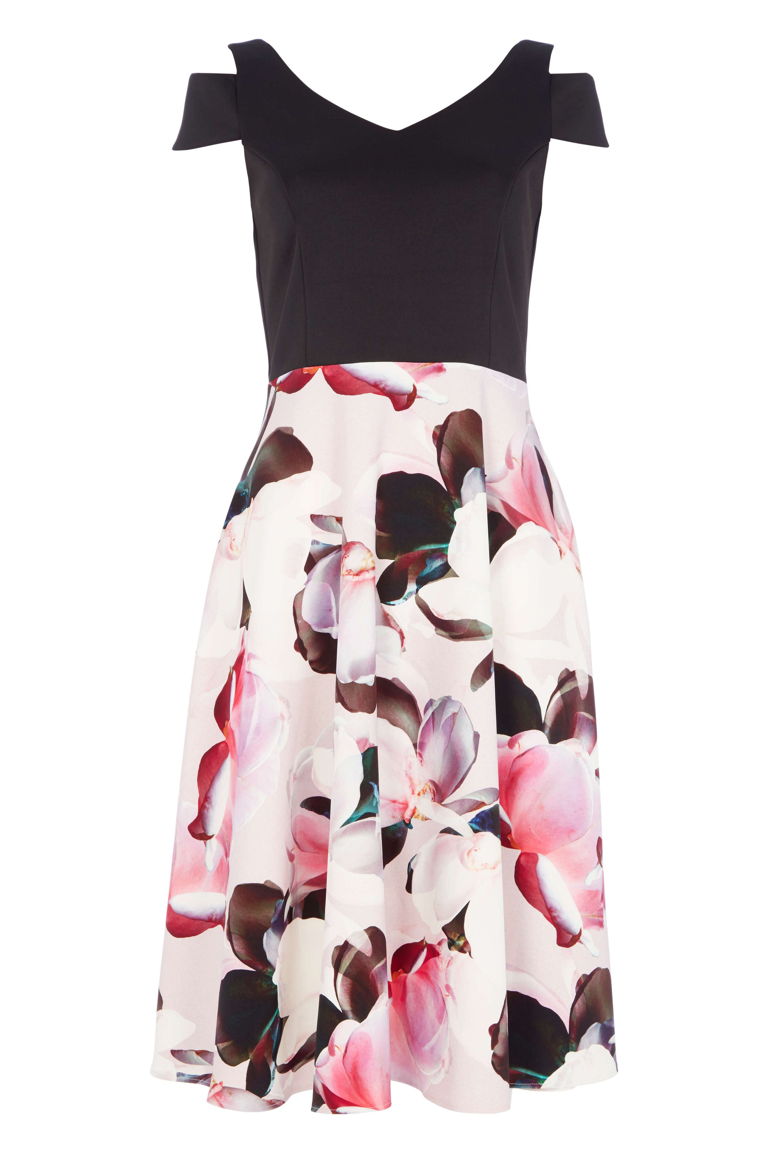 Roman Originals Fit And Flare Floral Dress, Pink