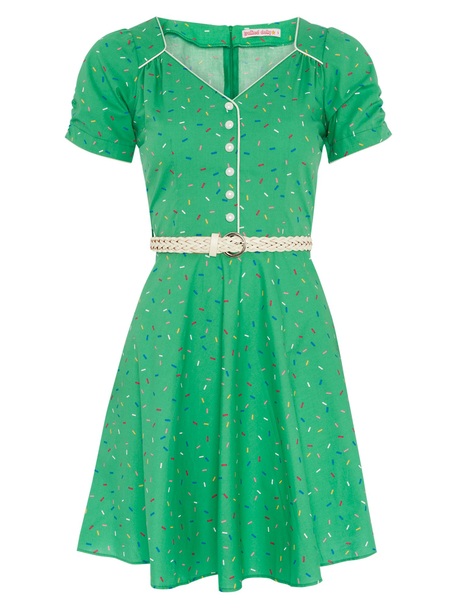 Buttoned tea dress