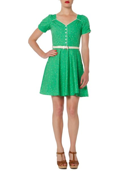 Trollied Dolly Buttoned tea dress