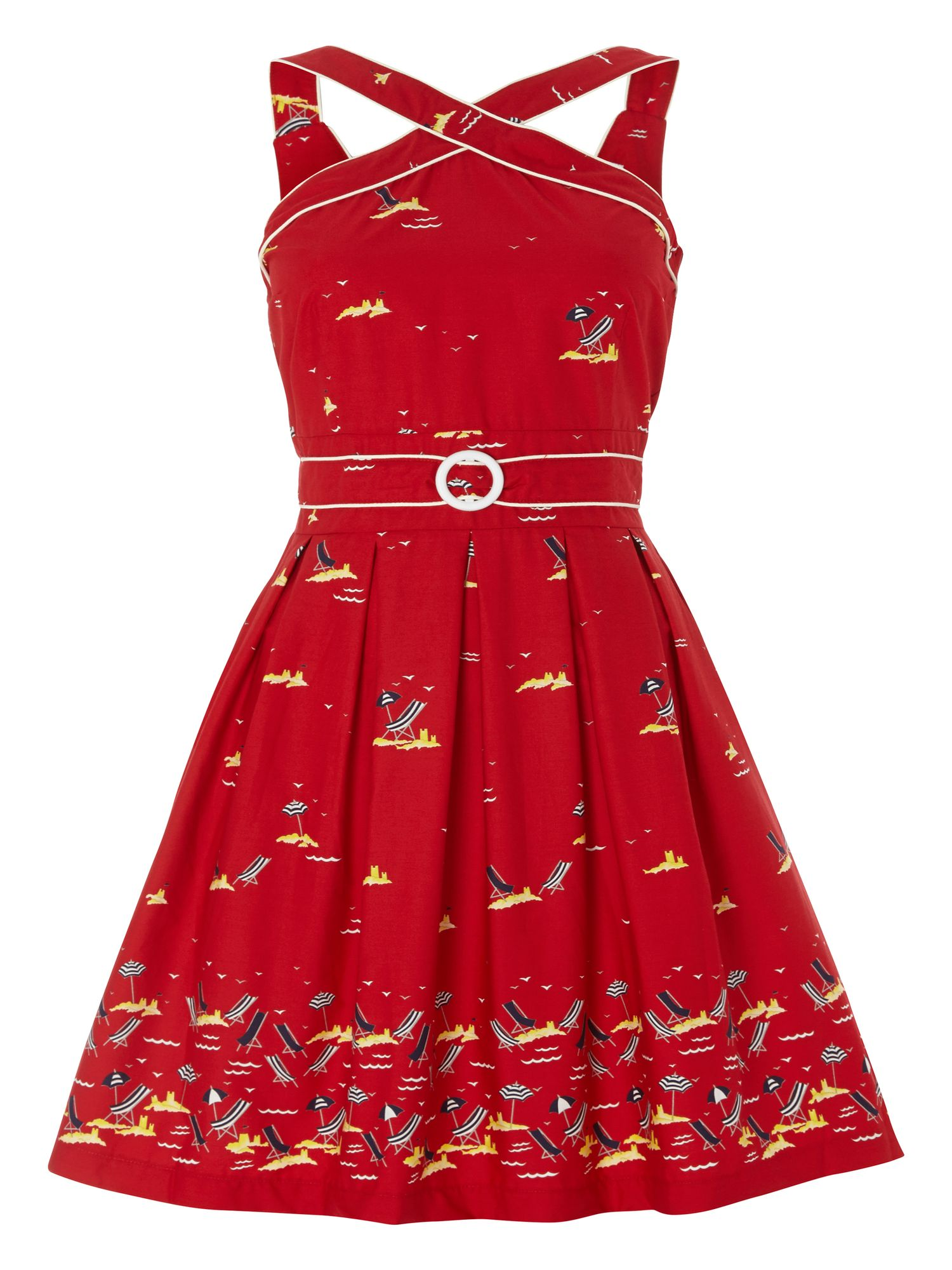 Trollied Dolly Cross My Heart Dress $33.00 AT vintagedancer.com
