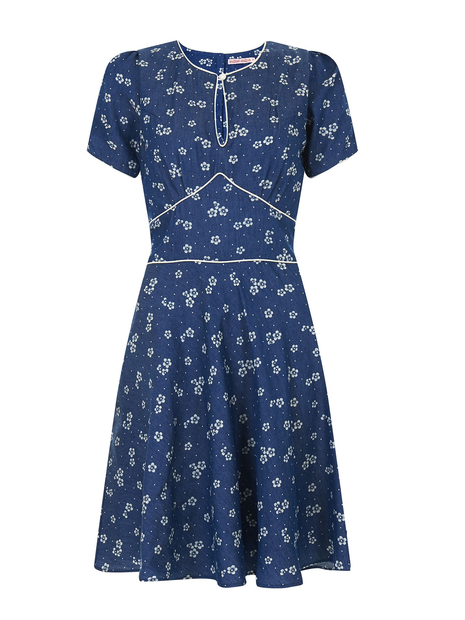 Trollied Dolly Dip and Flare Dress $33.00 AT vintagedancer.com