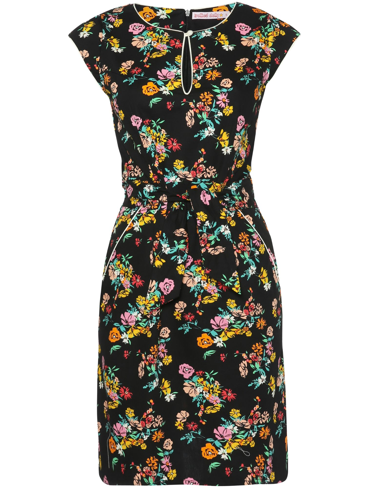 Trollied Dolly Notch Neck Dress $33.00 AT vintagedancer.com