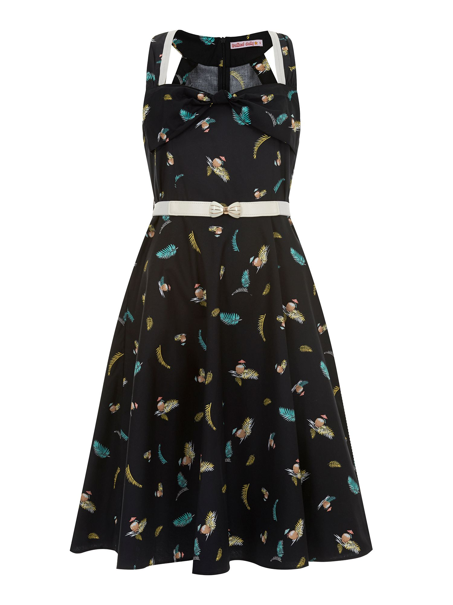 Trollied Dolly Rock around the Clock Dress $38.50 AT vintagedancer.com
