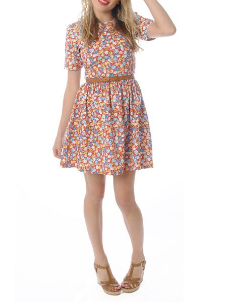 Trollied Dolly Gorgeous in Gathers Dress