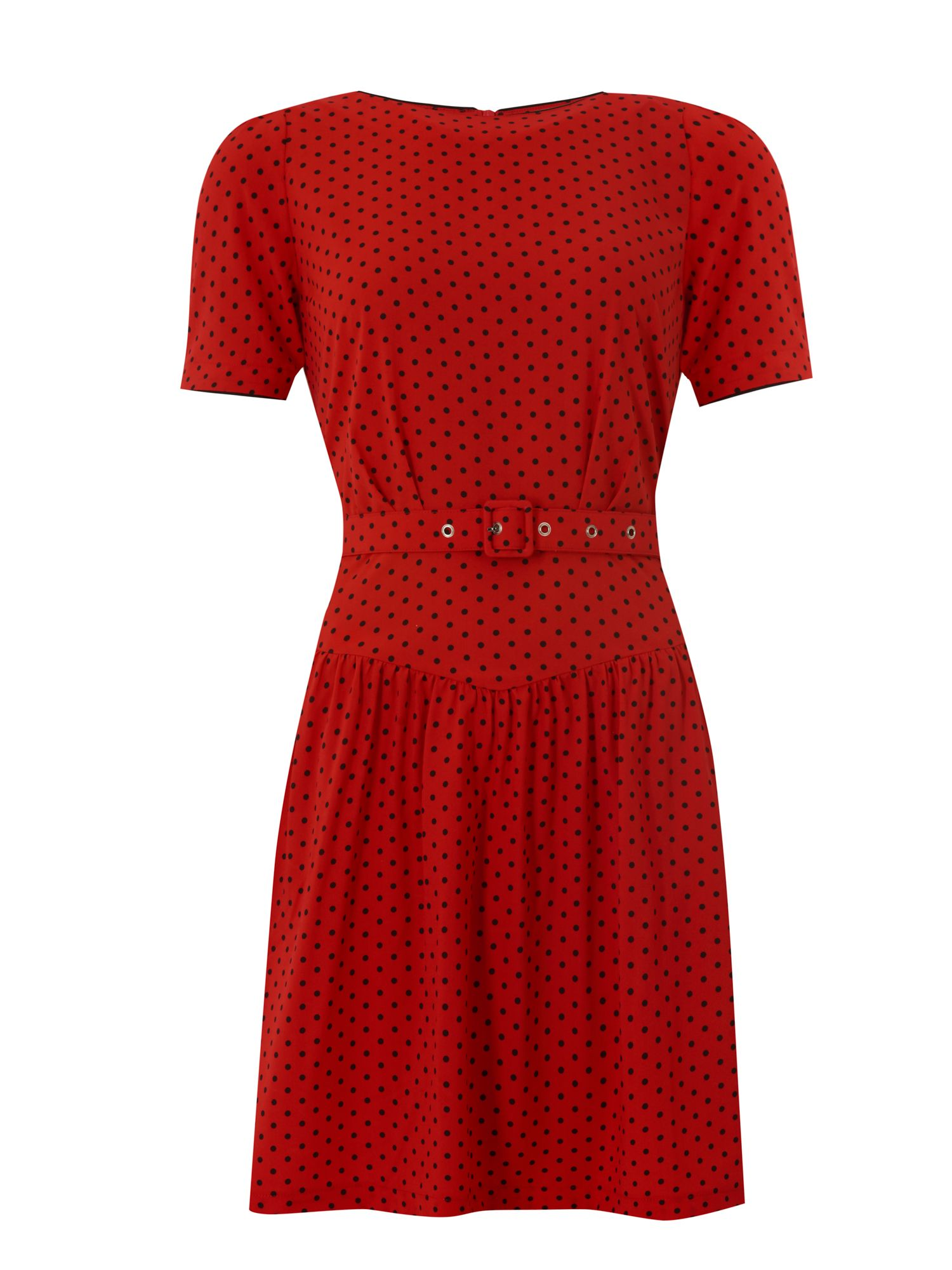 1950s Polka Dot Dresses Trollied Dolly Drop Dead Gorgeous Dress £27.50 AT vintagedancer.com