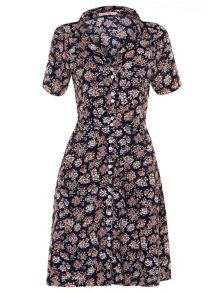 Trollied Dolly Collared Tea Dress