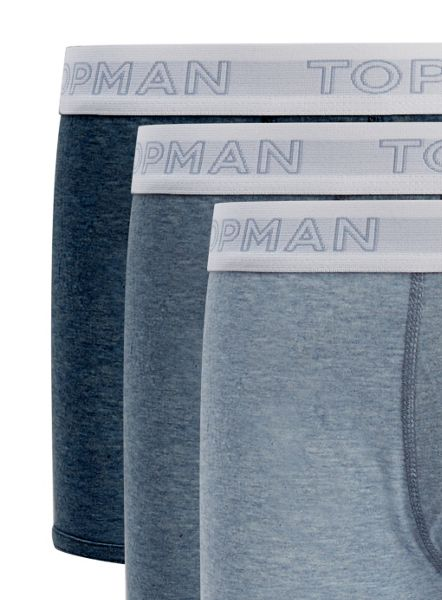 Topman Shades Of Blue Hipster 3 Pack