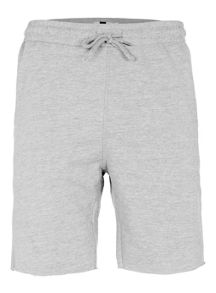 Topman Grey raw edge jersey shorts