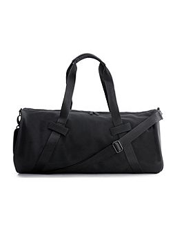 Black Rubber Barel Bag