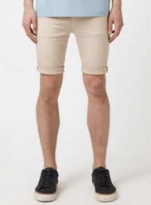 Topman Wash stone spray on denim shorts