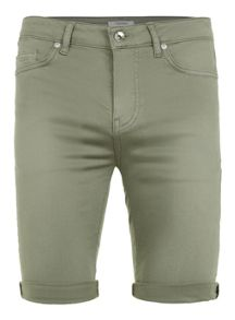 Topman Wash khaki spray on denim shorts