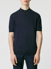 Topman Short sleeve smart knitted polo