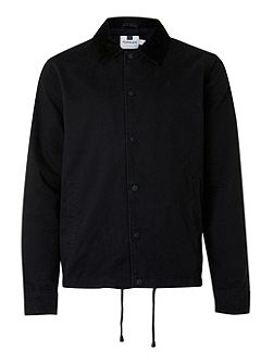 Black Cord Collar Coach Jacket