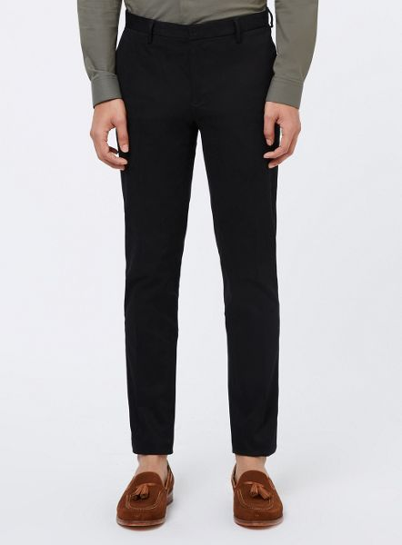 Topman Cotton Twill Skinny Fit Trousers