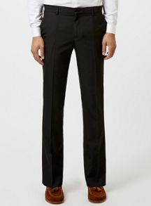 Topman Black Slim Fit Smart Trousers