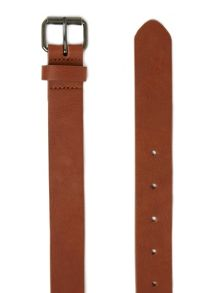 Topman Tan Leather Look Belt