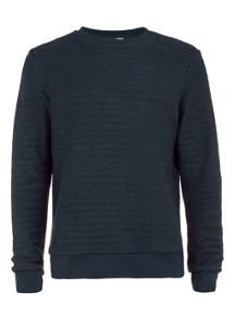 Topman Long sleeve textured sweatshirt.