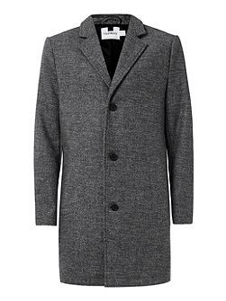 Grey Salt and Pepper Wool Mix Overcoat