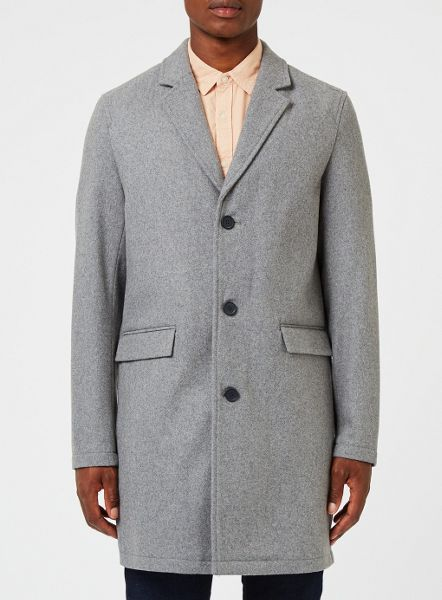 Topman Grey Over Coat