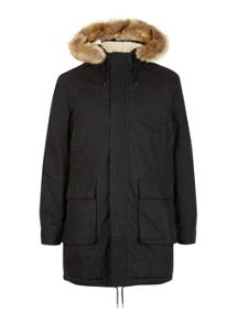 Topman Black Parka Jacket