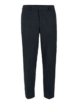 Herringbone Cropped Trousers